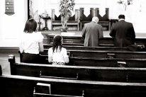 Tri X / 24x36 / Gospel mass. Harlem.