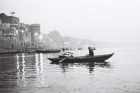 Tri X / 24x36 / Boat on the Ganga - Varanasi